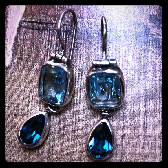 Blue Topaz Earrings By Janice Girardi Designs